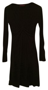 Velvet by Graham & Spencer short dress Black Jersey V-neck Longsleeve on Tradesy