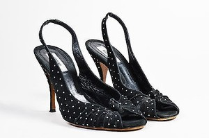 Moschino Clear Black Pumps