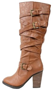 dollhouse Women's Strappy chestnut Boots