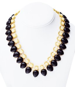 Other Elegant Gold Plating Resin Bib Statement Necklace