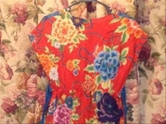 Talie Floral Tie-back Summer Tunic