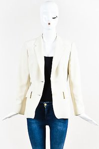 Max Mara Max Mara Cream Two Button Tailored Blazer