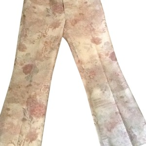 Dana Buchman Trouser Pants Soft pastel on cream beige