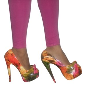 Red Kiss FLORAL MULTICOLOR Platforms