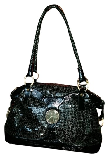 Preload https://item1.tradesy.com/images/hot-in-hollywood-black-patent-with-sequence-satchel-1507690-0-0.jpg?width=440&height=440