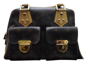 Louis Vuitton Manhattan Monogram Satchel in Brown