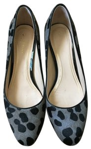 Cole Haan Chunky Heel Animal Gray and black/animal print Pumps