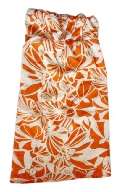 Preload https://item2.tradesy.com/images/orangecream-tropical-strapless-floral-summer-spring-tube-above-knee-short-casual-dress-size-0-xs-150771-0-0.jpg?width=400&height=650