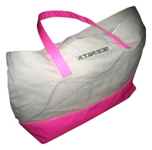 Victoria's Secret Beach Weekend Pink Tote in Pink,Cream