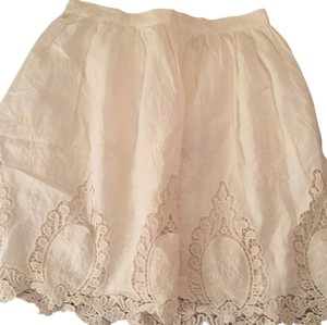 Topshop Skirt Cream