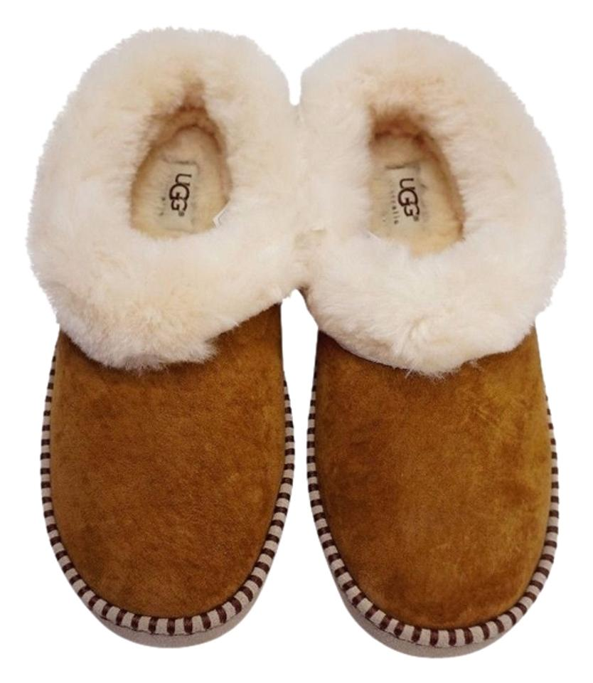 bc91bc4a215 UGG Australia Women Wrin Chestnut Shearling Slippers Moccasin Scuff 7.5 -  Eu 39 Mules/Slides Size US 8 13% off retail