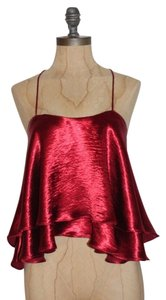 Hot & Delicious Charmeuse Firty Layered Night Out Date Night Top BURGUNDY