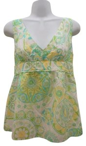 Lilly Pulitzer Silk Paisely Top Green