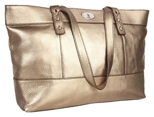 Fossil Nwt Tote in Metallic