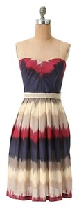 Anthropologie short dress Strapless Boning Bodice Pockets on Tradesy