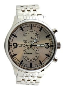 Invicta Invicta Men's 0366 II Collection Multi-Function Stainless Steel Watch 48mm