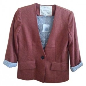 Anthropologie Orange Blazer