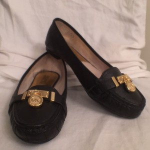 Michael Kors Leather Hamilton Loafers Black Flats
