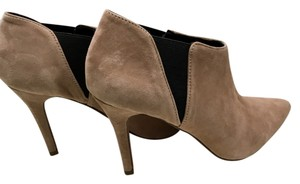 Jessica Simpson Ankle Suede Leather Heels Tan Boots