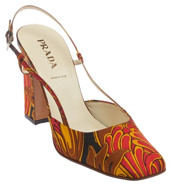 Item - Multi-color Women's Satin Slingbacks 39.5 (24493) Pumps Size US 9.5