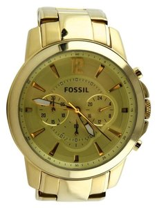 Fossil Fossil Boyfriend Chronograph Gold-Tone Stainless Steel Watch 43mm