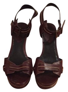 Calvin Klein Platform Brown Sandals