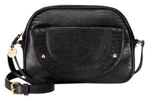 Juicy Couture Lizard Embossed Designer Leather Satchel in Black