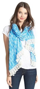 Tory Burch Tory Burch 'Ikat Diamond' fringe Scarf Wrap Cover Up