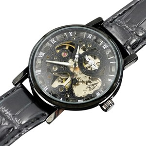 MCE Foksy Popular 2014 Automatic Skeleton Watch With Black Face-FREE SHIPPING
