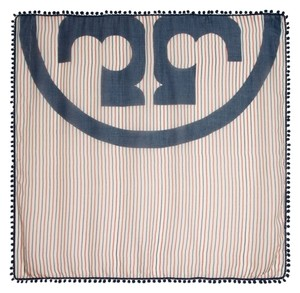 Tory Burch Tory Burch Fleet Street Logo Stripe Scarf