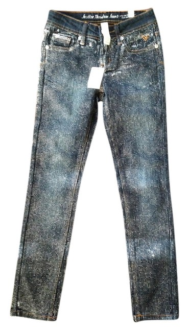 Justice New For Girls 8r Skinny Jeans-Dark Rinse