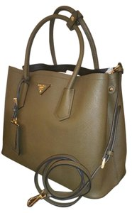 Prada Satchel in Olive Green