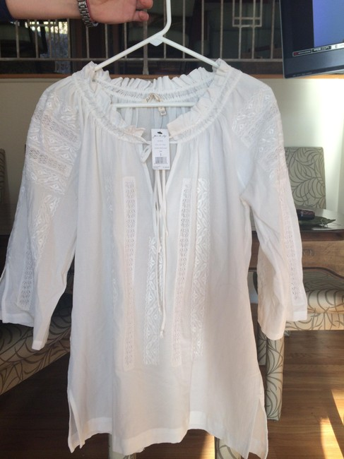 Joie White Tesha Embroidered Coverup