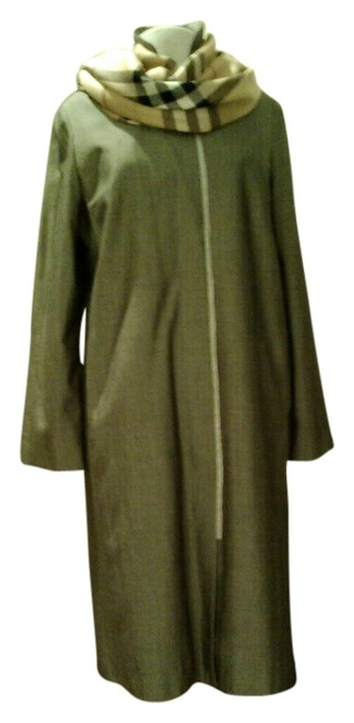 Item - Heather Grey Buttoned Down Coat Size 12 (L)