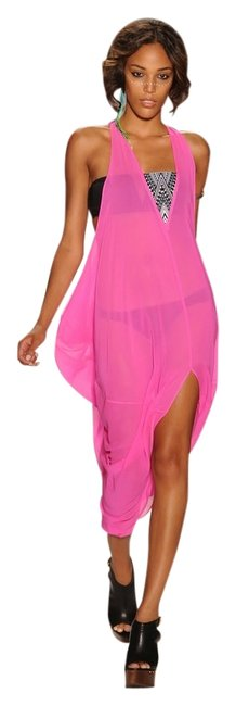 Item - Hot Pink Embroidered Dashiki Cover-up/Sarong Size OS (One Size)