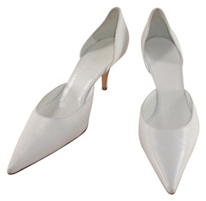 Balenciaga D'orsay Leather Paris Pointed Toe White Pumps
