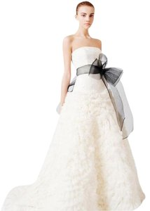 Vera Wang Off-white Ivory Organza Tulle Eleanor - Gown From Sex and The City Formal Wedding Dress Size 6 (S)
