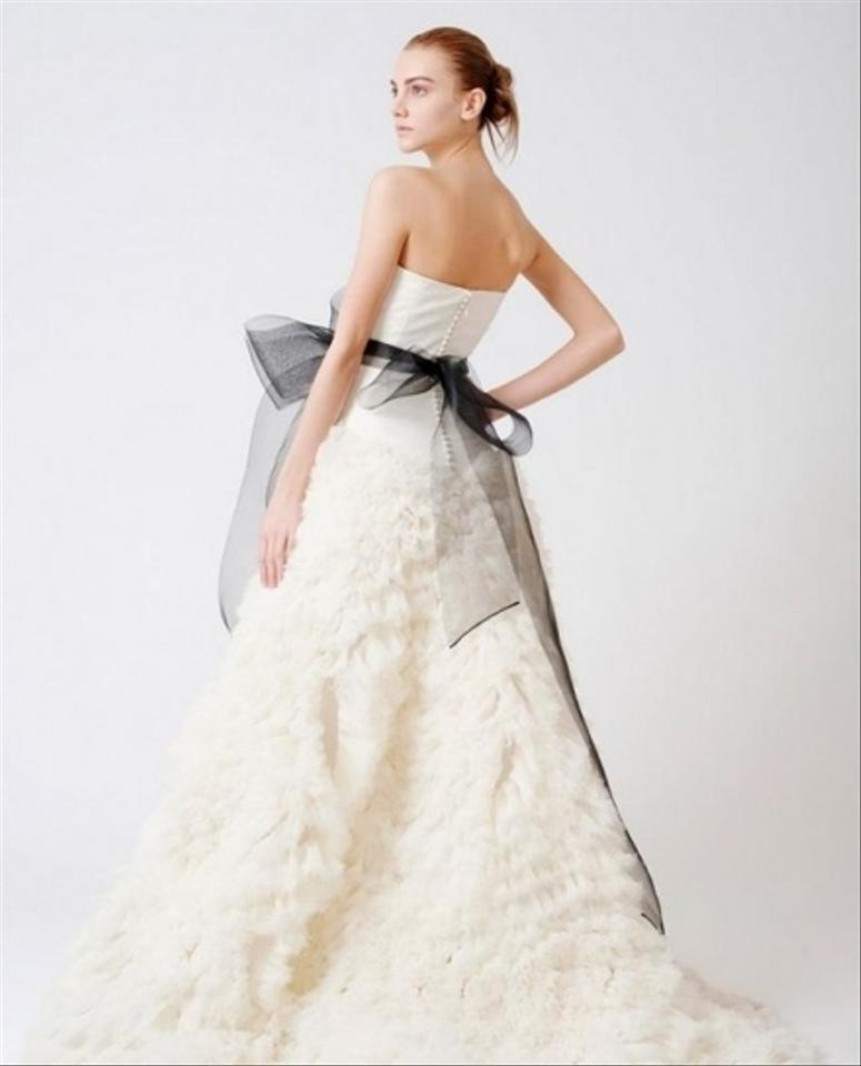 Vera Wang Off White Ivory Organza Tulle Eleanor