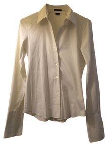 Theory Classic Blouse Button Down Shirt White