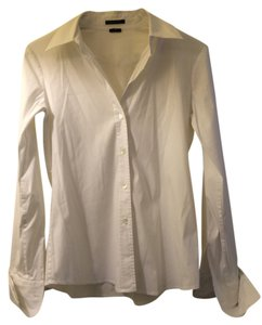 Theory Wardrobe Essential Button Down Shirt White