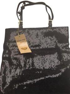 Felix Rey Holidays Tote in Black sequins with leather straps