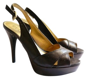 Guess Slingback Platform brown Pumps