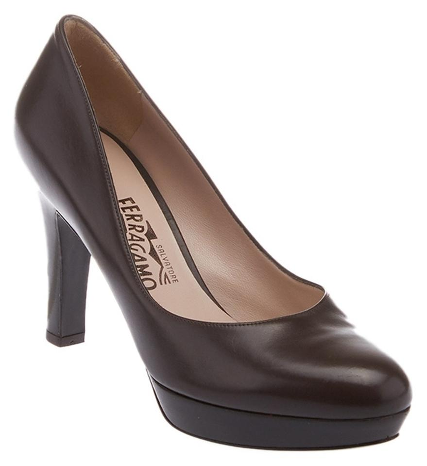 Salvatore Ferragamo Brown Women's (24297) Leather Platform (24297) Women's Pumps c42950