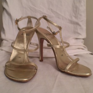 Stuart Weitzman Leather Gold Formal