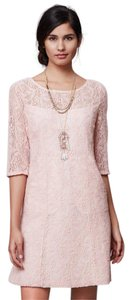 Anthropologie short dress Light Pink Lace Maeve Pink Mad Men on Tradesy