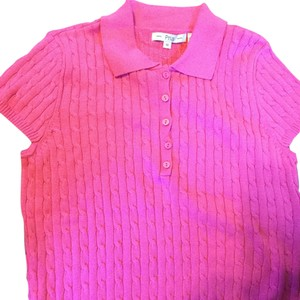 Pria Hot Pink Knit Cable Sweater
