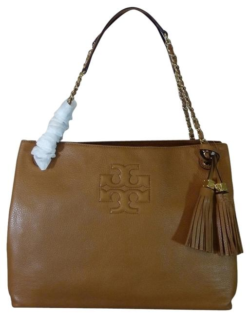 Item - Thea Chain Slouchy Shoulder Brown/Tan Leather Tote