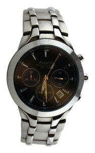 Accurist Accurist Men's Quartz Watch with Blue Dial Chronograph Display and Silver Stainless Steel Bracelet