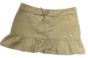 Other Going Out Beach Wear Mini Skirt Khaki