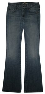 7 For All Mankind 5 Pocket Style Zip Fly Cotton/spandex A Pocket Boot Cut Jeans-Medium Wash